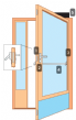 Package 6MP Multipoint - Escape - High Security Narrow stile door